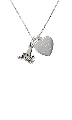 Antiqued Lighthouse You are more Loved Heart Locket Necklace