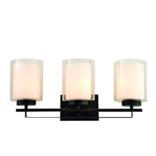 Design House 578161 Impala Three Vanity Light, Rustic Bronze