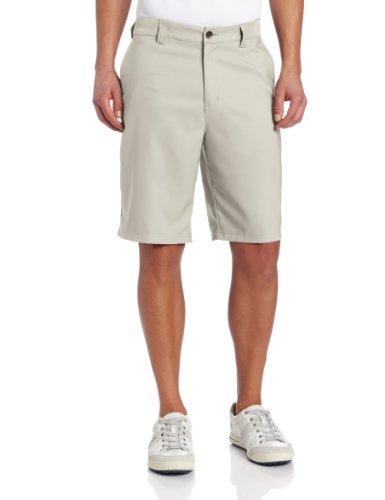 adidas Climalite Flat-Front Short, 35-Inch, Ecru