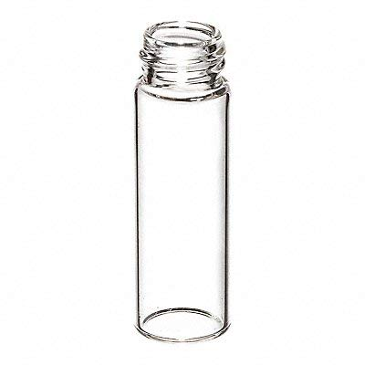 JG Finneran 32008-1232 Borosilicate Glass Standard Opening Screw Thread Vial, 2.0mL Capacity, 12mm Diameter, 32mm Height, 8-425mm Neck, Clear (Case of 1000)