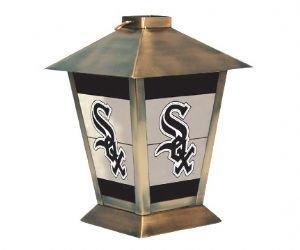 (Chicago White Sox MLB Glass & Metal Candle Lantern (11