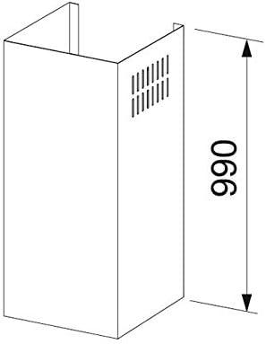 Extensi/ón de tubo, Acero inoxidable, Acero inoxidable, 990 mm Franke FCH 990 XS FQD//FSW Extensi/ón de tubo Accesorio para chimenea