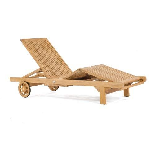 Amazon.com: Somerset chaise tumbona de teca: Jardín y Exteriores