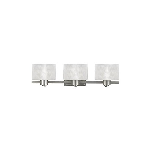 Quoizel OK8601C Oakland 8-1/2-Inch Bath Sconce with One Light with Opal Etched Glass, Polished Chrome Finish
