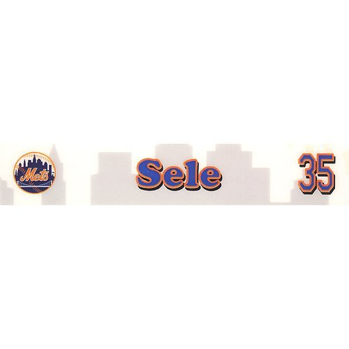 (Aaron Sele #35 Mets Spring Training Authenticated Game Used Locker Room Nameplate Circa 2005-2008 )