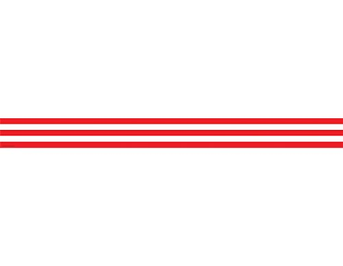 Teacher Created Resources 5489 Red and White Stripes Straight Border Trim