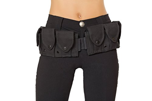 Roma Costume Women's Belt with Pouches, Black, One Size]()
