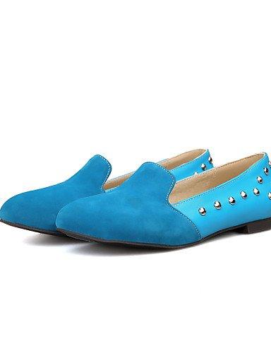 PDX/ Damenschuhe - Ballerinas - Büro / Kleid / Lässig - Vlies - Flacher Absatz - Geschlossene Zehe / Rundeschuh - Blau / Rosa / Beige blue-us8 / eu39 / uk6 / cn39