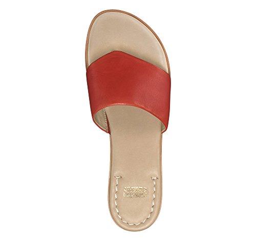 Johnston & Murphy Donne Raney Fenicottero Rosso Sandalo Piatto Rosso Fenicottero