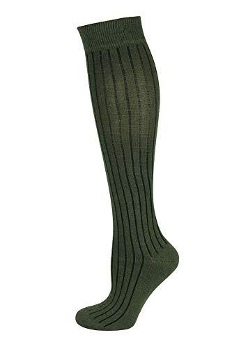 Mysocks Unisexe uni genou haut chaussettes 1