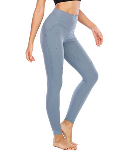 Yaavii High Waisted Yoga Pants with Pockets for Women No See Through 4 Way Stretch Workout Leggings