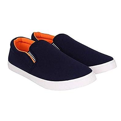 0a9ee8159990d0 Fairdeal Men s Pilot Blue Orange Casual Loafer Shoes (9)  Buy Online ...