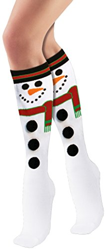 Forum Novelties Women's Adult Christmas Socks, Snowman, One Size (Funny Santa Costumes)