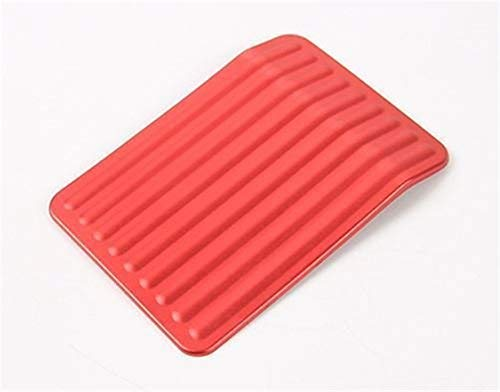 HGCAR Aluminum Dead Pedal Anti Slip Covers Left Rest Foot Pedal Pad for Ford F150 2015 2016 1pcs Red