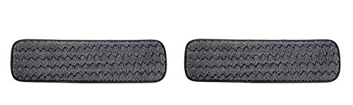 Rubbermaid Commercial 1863895 Executive Series HYGEN Multi-Purpose Microfiber Wet Flat Mop Pad,18-inch, Single-Sided (2 PACK) by Rubbermaid Commercial Products