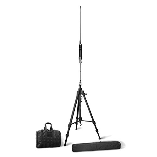 Super Antenna MP1LX Tripod HF Portable All Band Vertical Antenna SuperWhip with Go Bags ham Radio Amateur (Best Portable Hf Transceiver)