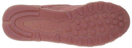 Reebok Donna Cl Lthr Sneaker In Pizzo Color Rosa Sabbia / Bianco