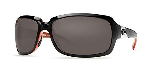 Polarized Cr Gray Lenses 39 - Costa Del Mar Women's Isabela Sunglasses 580Plastic, Black Coral/Gray