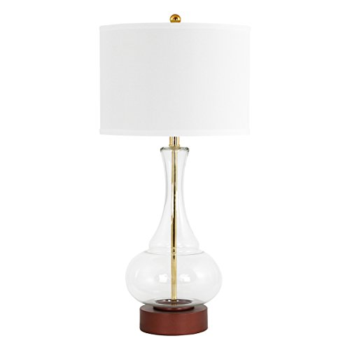 Aspire Table Lamp Rita Glass, Clear (Aspire Lamp Table)