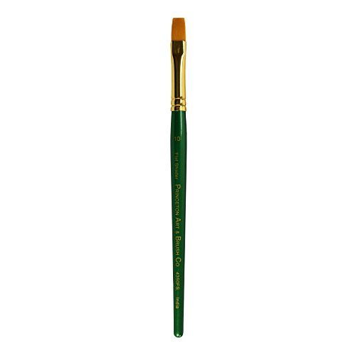 (Princeton Artist Brush Lauren, Brushes for Acrylic and Watercolor Series 4350, Flat Shader Golden Synthetic, Size 10)