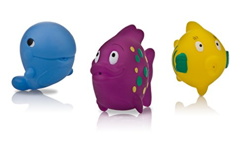 Nuby 3-Pack Fun Fish Squirter Bath Toys