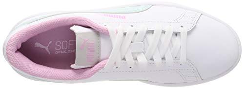 Basse V2 Bianco pale Jr puma Puma Bambini Ginnastica Scarpe Pink White Aqua – Smash fair L Unisex Da fgq50w