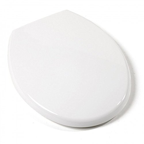 Jones Stephens Deluxe Plastic Seat, Euro Design, White, Round Closed Front with Cover