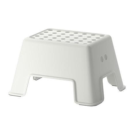 Ikea Bolmen Scaletta/Sgabello, Bianco, 44x35x26 cm: K Hagberg/M ...