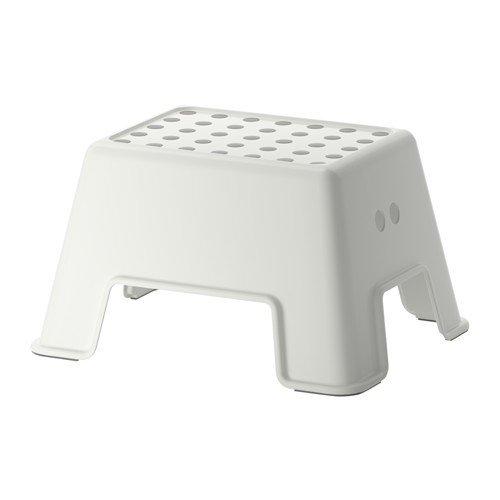 IKEA BOLMEN - Taburete escalon antideslizante, color bla