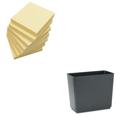 KITRCP25051UNV35668 - Value Kit - Rubbermaid Designer 2 Wastebasket (RCP25051) and Universal Standard Self-Stick Notes (UNV35668)