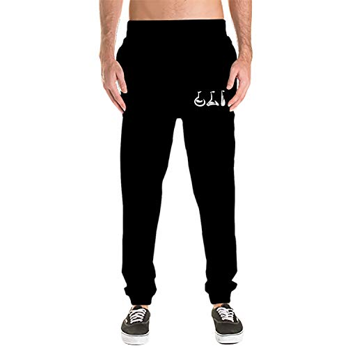 Athletic Men's Beakers Science Brush Art Cotton Sweatpants with -