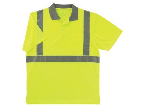 Ergodyne GloWear 8295 ANSI High Visibility Lime Reflective Polo Shirt, 3X-Large by Ergodyne