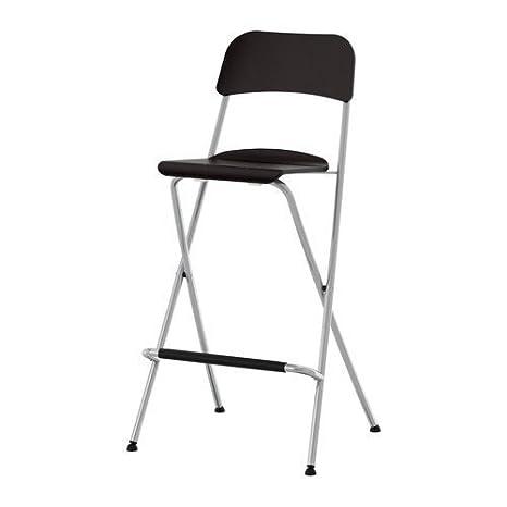 Awe Inspiring Ikea Franklin Bar Stool With Folding Back Brown Black Inzonedesignstudio Interior Chair Design Inzonedesignstudiocom