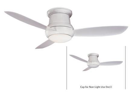 Minka Lavery Flush Mount Ceiling Fan Minka Aire F474-WH, 52″
