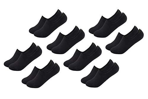 FOOTNOTE I 8 Paar I Unsichtbare Sneaker Socken Footies Füßlinge Invisible Socks mit Silikon Weiß Schwarz Pastell in 35 36 37 38 39 40 41 42