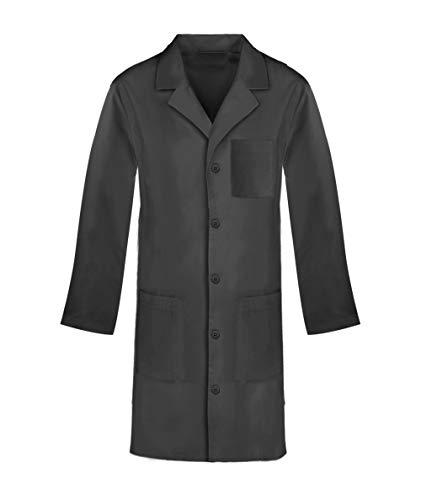 Panda Uniform Custom Colored 40 Inch Unisex Lab Coat -Black-XL