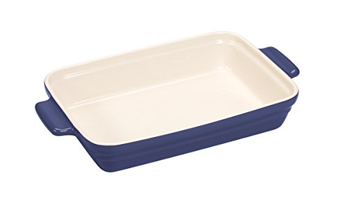 Baker's Advantage Ceramic Rectangular Baker, 9-by-13-Inch, Blue (Blue Rectangular Baker)