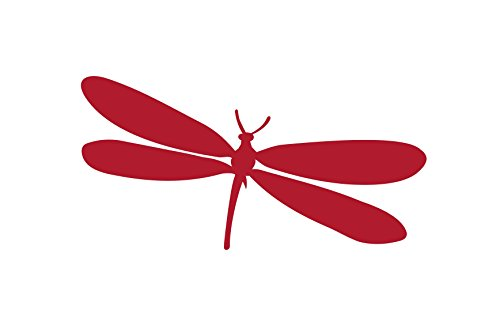 Dragonfly Sticker Vinyl Decal Car Truck Window Wall Glass Laptop Bumper (6 Inches, Dark Red)