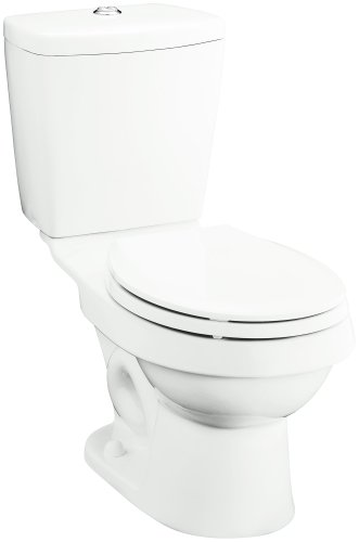 Sterling 402025-0 Karsten 12-Inch Rough-in Round Front Toilet, White