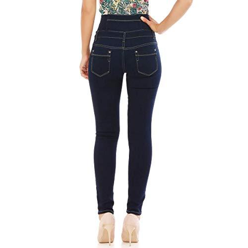 fonc La Bleu Bleu Haute Jeans Taille Slim Modeuse Brut wXAUrZqXt