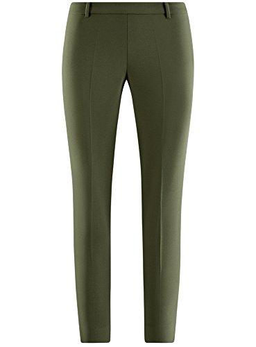 Femmes Côté Serrés Fermeture Vert Glissière 6900n Collection Avec Le Oodji Pantalons À Sur F51tqnvCx