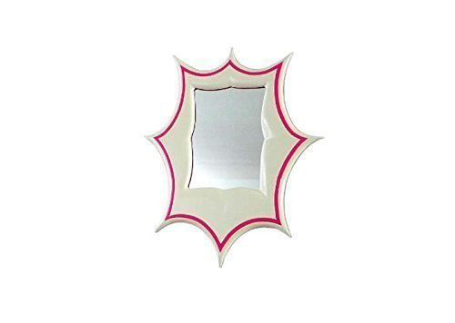 "Elegant Pink Decorative Frame Wall Mirror (19"" x 24"") - Meridian by Marvellous Mirrors"