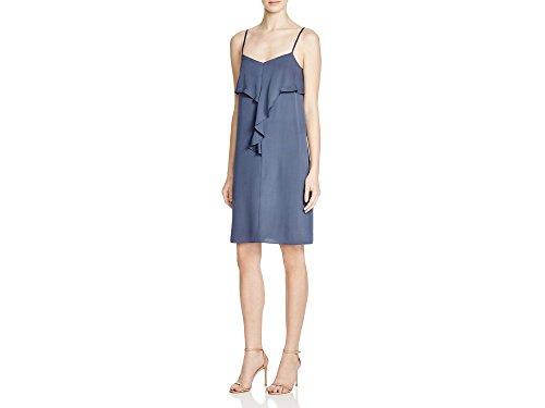 Ruffle Front Silk Dress - 4