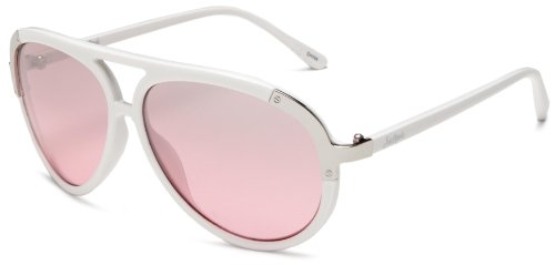 Southpole Womens 133SP WHPNK Aviator Sunglasses,White Frame/Gradient Smoke To Pink Lens,one ()