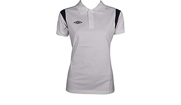 Umbro Poly Short Sleeve Womens Training Polo Shirt - White-XL ...