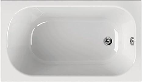 Vasca Da Bagno 130 X 70.Vasca Rettangolare In Acrilico Korana 130 X 70 X 39 Cm Bianco Vasca