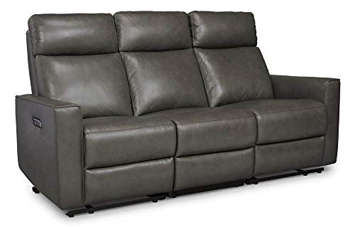 Home Styles 5320-62 homestyles by Flexsteel Nuovo Leather Power Motion Reclining Sofa W-74 ½