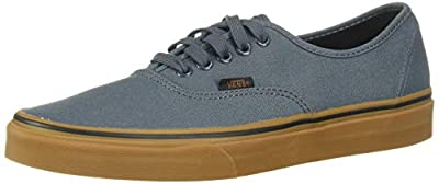 Vans Unisex Authentic (Gum) Dark Slate/Black Skate Shoe 8.5