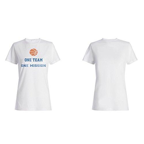 Ein Team Eine Mission Basketball Damen T-shirt n616f