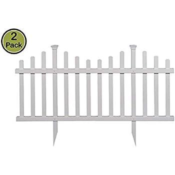 Amazon com : Suncast GVF24 Grand View Fence, White : Outdoor